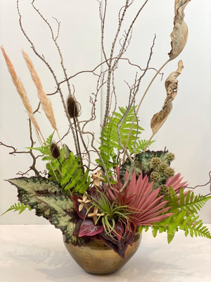 faux floral artificial and dried botanicals luxury vase immortal entryway floral