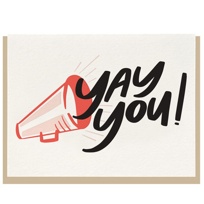 Yay You! Lettpress Card