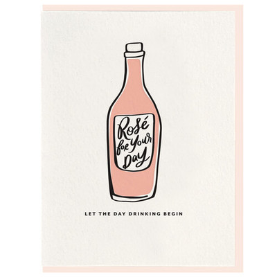 Let the Day Drinking Begin Letterpress Card