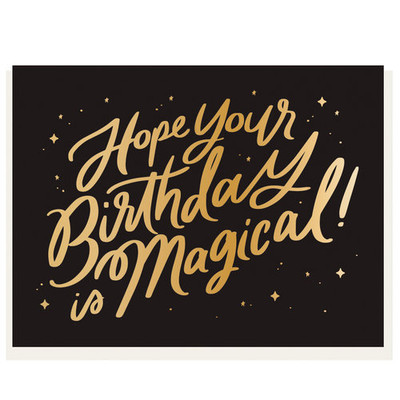 Hope Your Birthday is Magical Letterpress Card