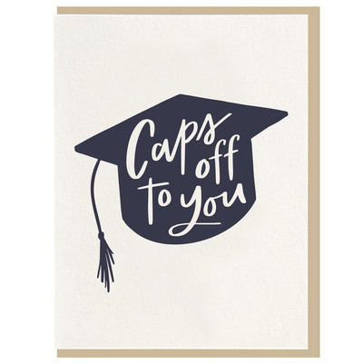 Caps off to you Letterpress card
