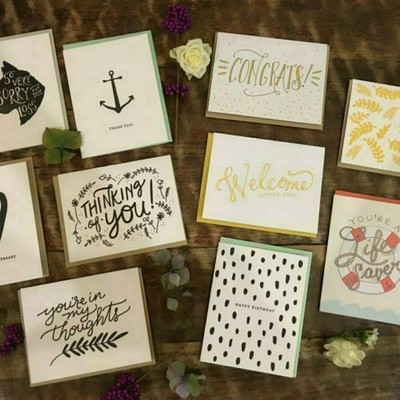 Letterpress Cards Dahlia Press