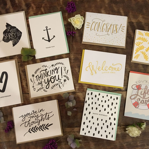Letter press cards handmade in Seattle