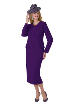 2920 Two PC POLY CREPE SKIRT SUIT by LILY AND TAYLOR