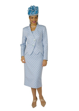 4258-2PC NOVELTY SKIRT SUIT
