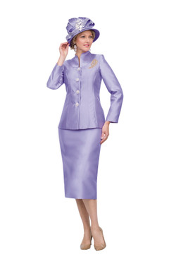 4564 Appealing Two Piece Silky Twill Suit