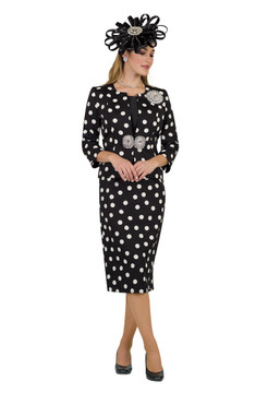 4503 Elegant Three Piece Polka Dots Novelty Suit