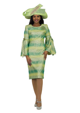 4526 Fabulous Novelty Dress with Tie on Sleeve