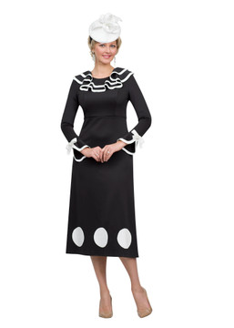 4510 Fabulous Ponte Knit Dress with Trim Details
