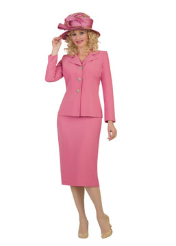 3895 Elegant French Crepe Skirt Suit