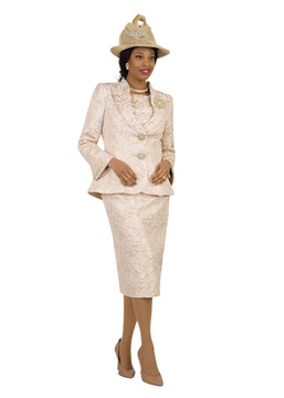 4427 Elegant Three Piece Novelty Skirt Suit