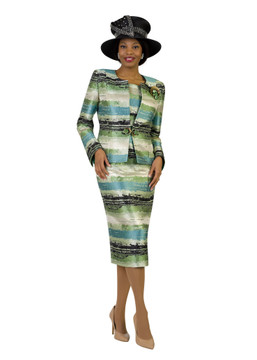 4420 Fabulous Three Piece Novelty Skirt Suit