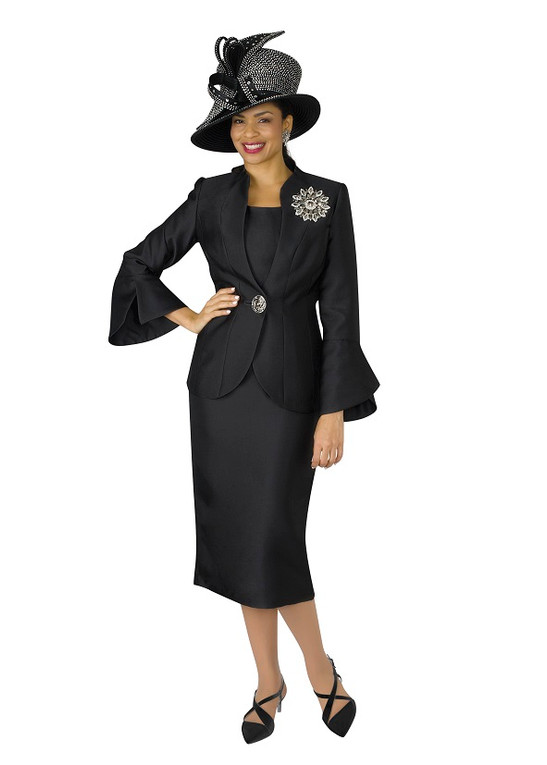 4140-3PC SILKY TWILL SKIRT SUIT