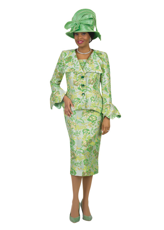 4517 Alluring Two Piece Novelty suit