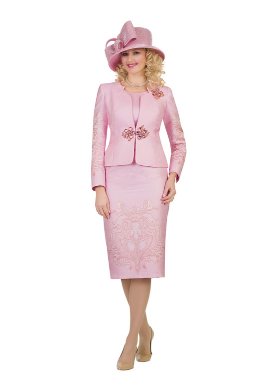 4504 Glamorous Three Piece Novelty Embroidery Suit