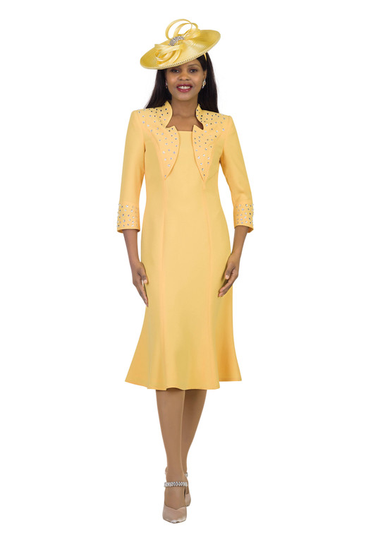 4502 Appealing French Crepe Rhinestone Trim Dress