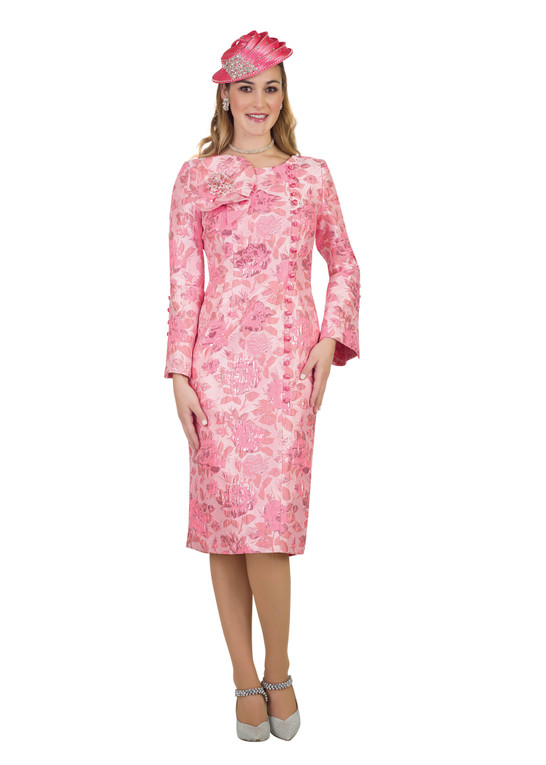 4486 Ravishing Flower Trim with Button down detail Novelty Dress