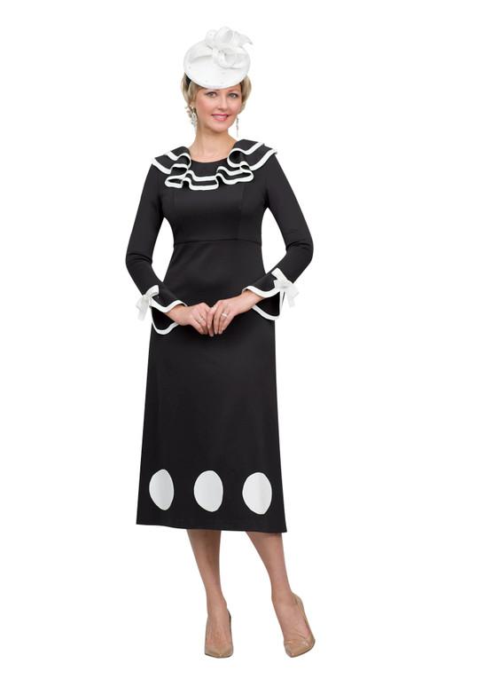 4510 Fabulous Ponte Knit Dress with Trim Details