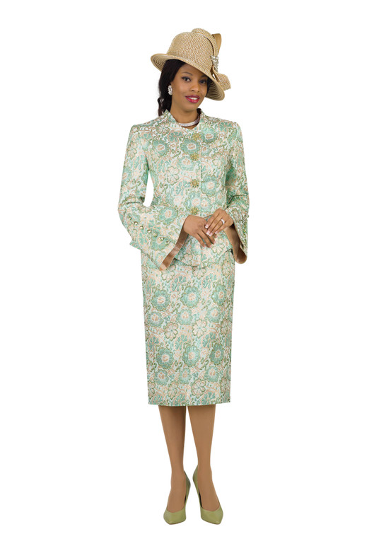 4441 Beautiful Two Piece l Novelty Skirt Suit