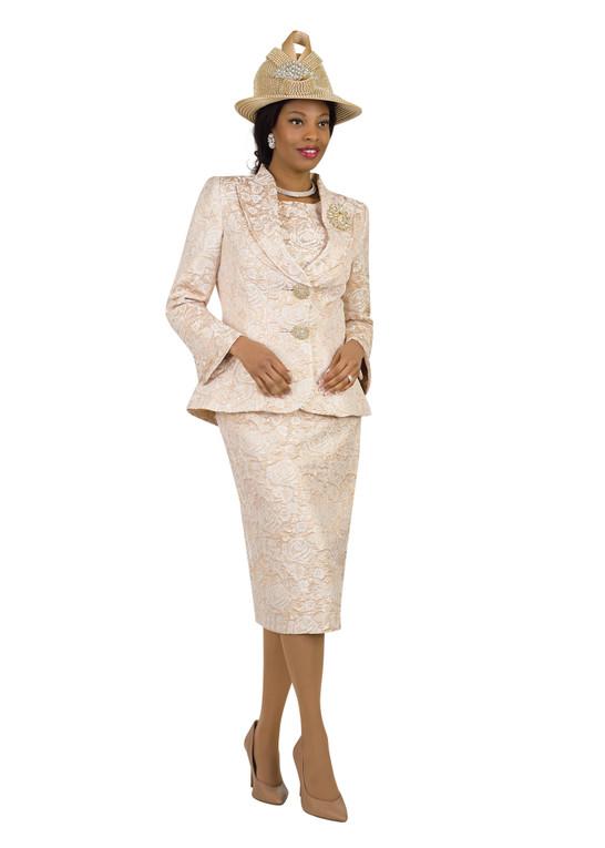 4427 Elegant Three Piece Novelty Skirt Suit