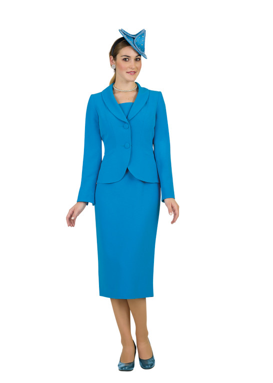 4529 Elegant Two piece French Crepe Skirt Suit