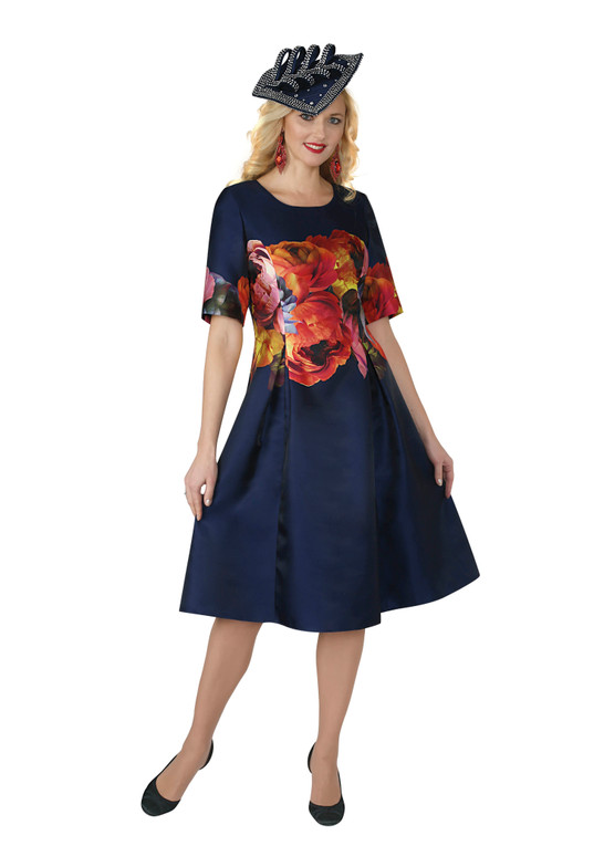 4269 silky twill floral dress