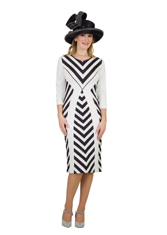 4560 Elegant Ponte Knit Dress