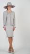 659 Fabulous Knit Ruffle dress with Button Down Cardigan