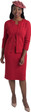 661 Ravishing Knit Dress and Cardigan Set with Rhinestone Trim Details