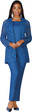 3653 Elegant Three Piece Crinkle Pants Suit With front Lace Jacket