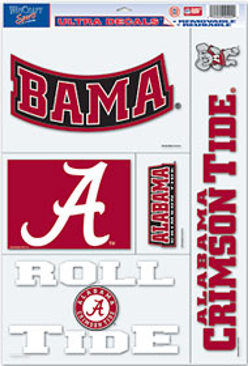 12 Pack Team Color ProMark NCAA Alabama Crimson Tide Decal Set Mini One Size