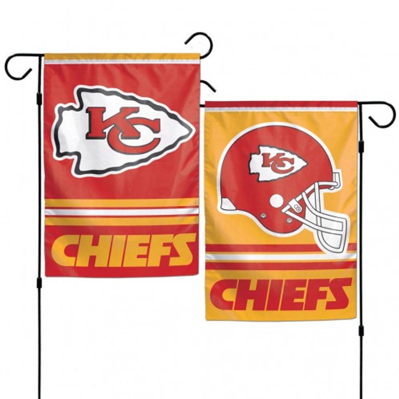 "Kansas City Chiefs Garden Flag House Banner Courtyard Flag Yard Banner 12x18/"""
