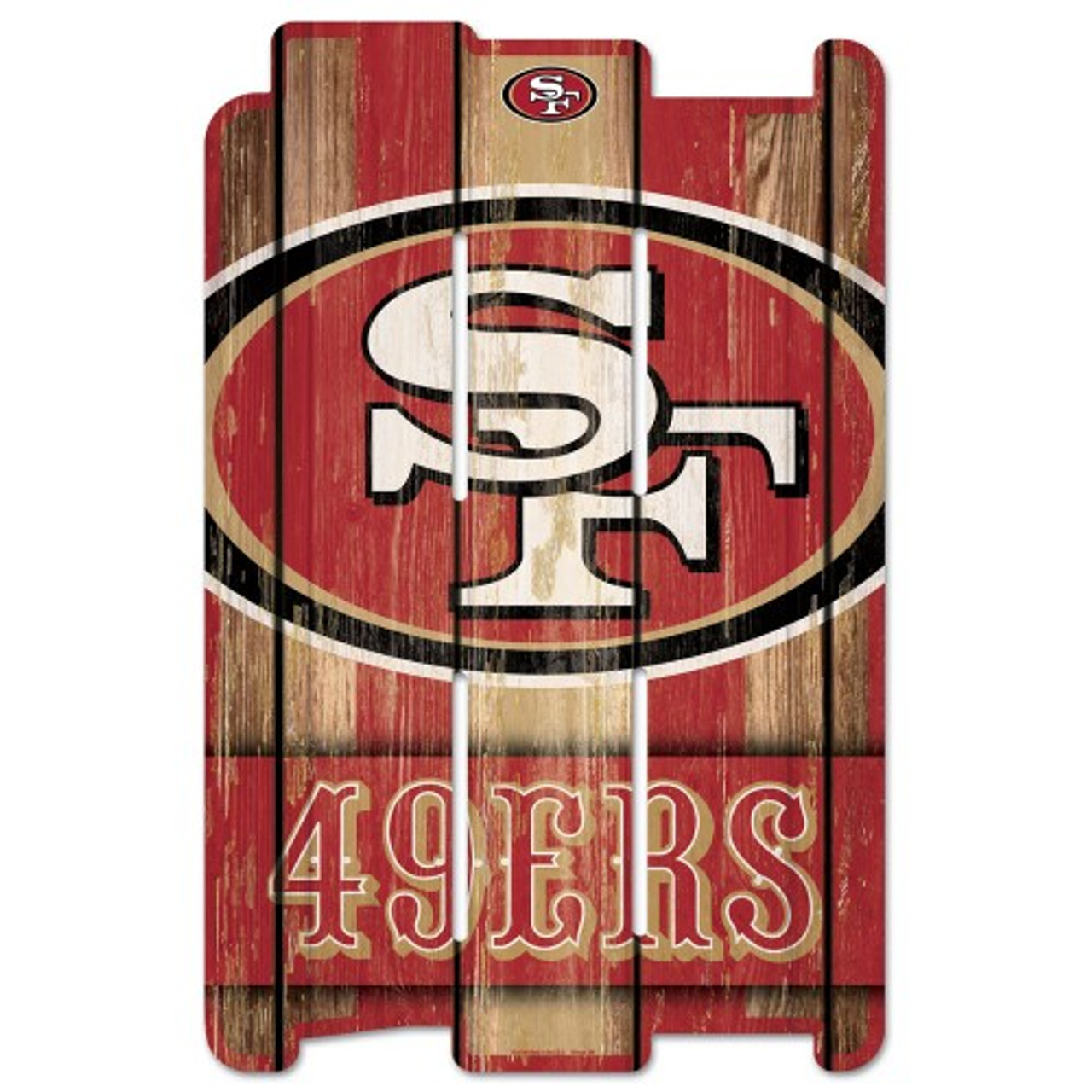 WinCraft San Francisco 49ers Sign 11x17 Wood Slogan Design