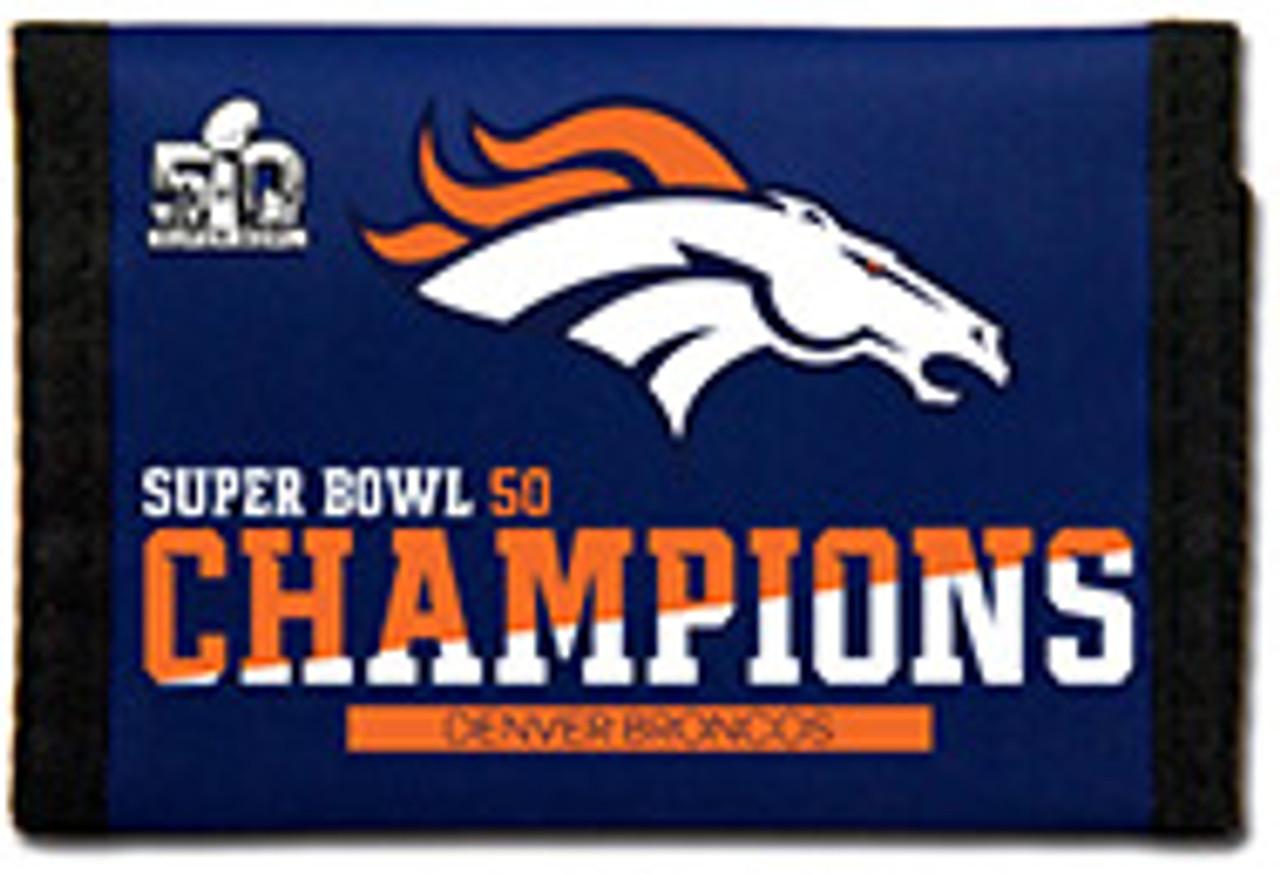 Rico Industries NFL Denver Broncos Trifold Wallet Nylon