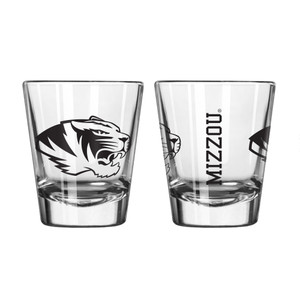 Great American NCAA LSU Tigers Square Shot Glass 2-Ounce 2-Pack Clear