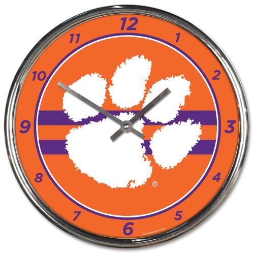 Wincraft LSU Tigers 12 inch Round Wall Clock Chrome Plated