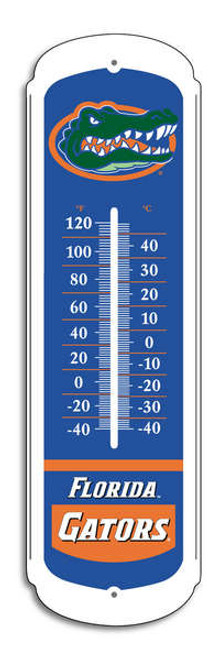 "Our 27"" collegiate thermometer is made from an enamel coated metal and is great for outdoor use. The print comes with a special UV protection coating to keep colors bright. The thermometer has both farenheight and centigrade temperature markings for easy reading and will measure temperatures from 40 below to 120 F. Mounting hardware not included. Made By BSI Products"