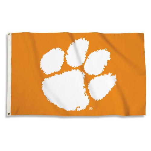 Clemson Tigers Flag 3x5 Paw Design BSI
