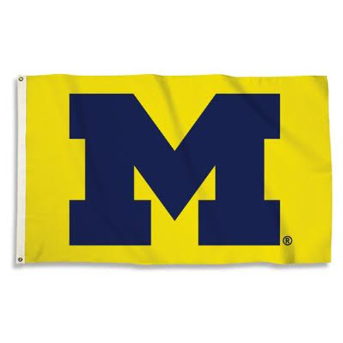This full color Officially Licensed 3'x5' flag is 100% polyester. It has two grommets for flying the flag outdoors, but also makes a great wall décor indoors. This flag has been approved by Collegiate Licensed Products and the University. The flag has an extra wide headband and is made of 150 denier polyester. Made by BSI Products. Made By BSI Products