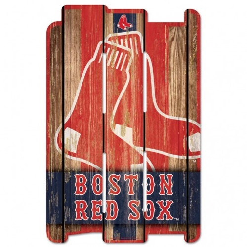 """Each wood fence sign is made of 3/8"""" hardboard and cut with dimension to give you the feel of a real fence. It has a routed hanging hole in the back. Many of the graphics use a retro white washed effect that can represent how long you've been a fan of your favorite team. Made in the USA. Made By Wincraft."""