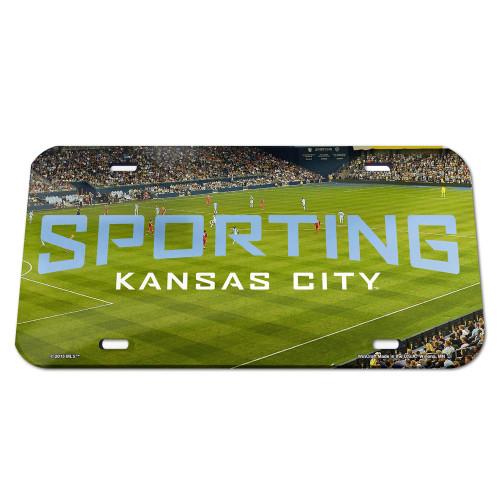 Sporting Kansas City License Plate Crystal Mirror Stadium Design Special Order