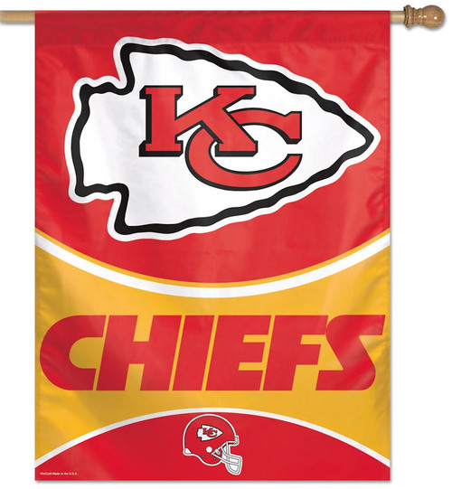 """This banner is one sided. It has vibrant colors exciting graphics. Great for indoor or outdoor use. Made of a nylon material. The banner has an opening at the top to slip a stick or pole through for hanging. 27""""x37"""" in size. Made By Wincraft, Inc."""
