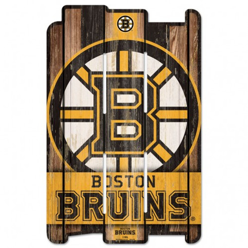 The fence sign is made of 3/8 inch hardboard and cut with dimension to give you the feel of a real fence. It has a routed hanging hole in the back. Many of the graphics use a retro white washed effect that can represent how long you've been a fan of your favorite team. Made in the USA by Wincraft.