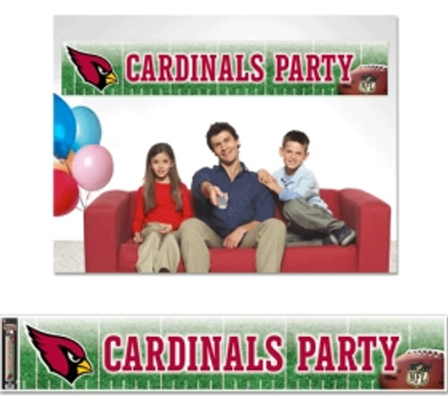 "Officially licensed 12""x65"" party banner is durable for many uses. It is produced with a weather resistant non-tear material and is packaged in a roll for easy packaging and shipping. Made in the USA. Made By Wincraft, Inc."