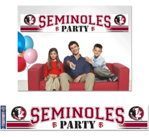 """Officially licensed 12""""x65"""" party banner is durable for many uses. It is produced with a weather resistant non-tear material and is packaged in a roll for easy packaging and shipping. Made in the USA. Made By Wincraft, Inc."""
