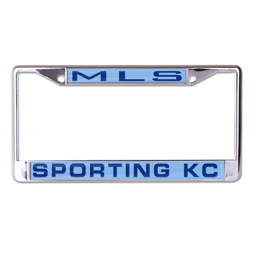"Metal License Plate Frame is decorated with inlaid laser cut color acrylic and mirror. The cast zinc frame is chrome plated zinc alloy with two mounting holes on the top of the frame. This plate frame is perfect for the front of your car since the large imprint area may cover up your tabs on your back plate, please check your local laws. Standard 6""x12"" size. Made by Wincraft"