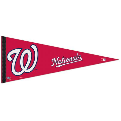 """This is an officially licensed pennant. Felt pennants are the standard for sports. This icon is the all time favorite fan item. Packaged with hang tags for easy display. Measures 12"""" x 30"""". Made by WinCraft in the USA. Pennants must be shipped in a separate box to avoid damage. We ask for a minimum order of at least 6 per team, and a minimum order of 24 pennants total (example:  8 Cubs, 6 Vikings & 10 Lakers would be an acceptable order). Made By Wincraft, Inc."""