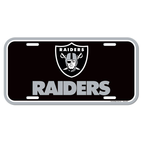 "Officially licensed 6""x12"" License Plates made of durable plastic. The plate is a great souvenir decorator piece. Made in USA. Made by Wincraft, Inc"
