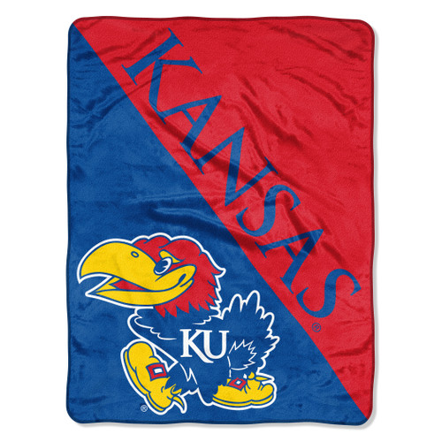 "These 46""x60"" throws are 100% polyester and are perfect for any die-hard football fan. The design features the team's logo printed big and bold against an attractive graphic background with decorative binding around the edges. This warm and plush throw is known for its rich saturated colors and exceptional durability and is machine washable! These blankets are packed rolled and feature a bellyband. They are packaged in case quantities of 6 but can be ordered individually. Made By Northwest Company."