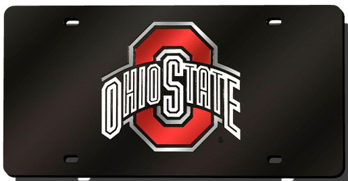 """This 6""""x12"""" license plate is a must have for any fan! The team's logo is laser cut onto a durable mirrored acrylic license plate. Great for displaying on your car or in your sports room!. Made By Rico Industries"""
